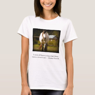 Provérbio do Arabian do cavalo branco Camiseta