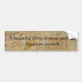 Provérbio egípcio sobre a beleza e a perfeição adesivo para carro
