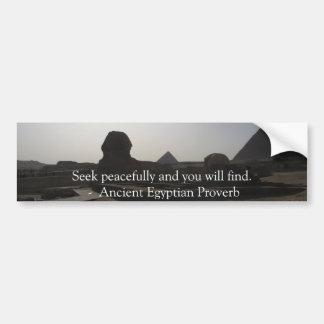 Provérbio egípcio sobre a PAZ Adesivo Para Carro