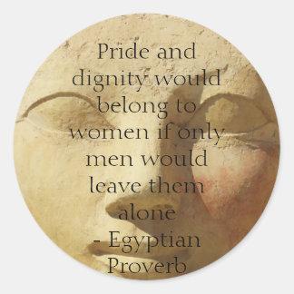 Provérbio egípcio sobre mulheres adesivo