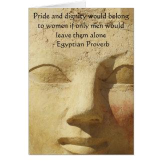 Provérbio egípcio sobre mulheres cartão comemorativo