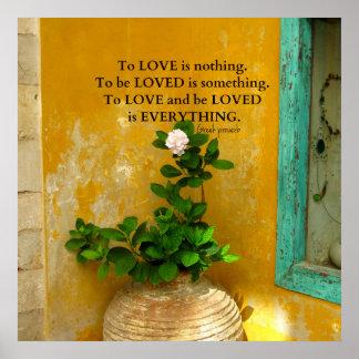 Provérbio inspirado do grego das citações do amor póster