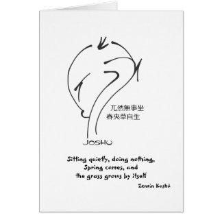 Provérbios do zen - sentando-se quietamente não f cartao