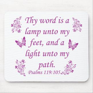 Provérbios inspirados da bíblia mousepads