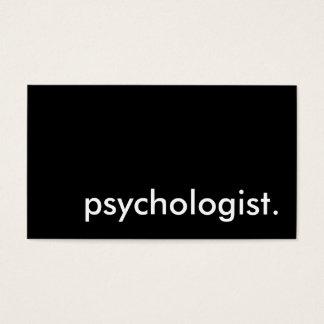psicólogo cartão de visitas
