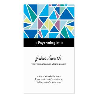 Psicólogo - geometria abstrata do azul cartão de visita