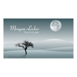 Psicólogo - lua e árvore da solidão cartão de visita