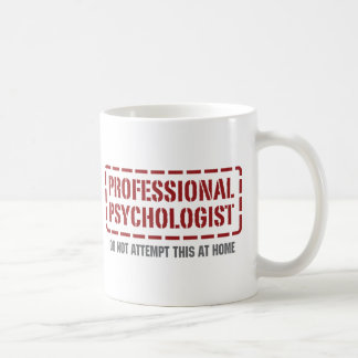 Psicólogo profissional caneca de café