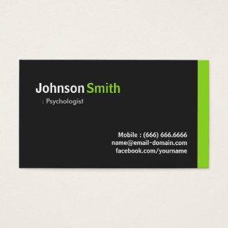 Psicólogo - verde minimalista moderno cartão de visita