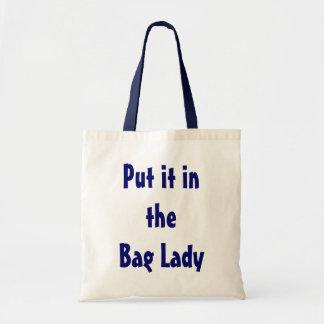 Psto lhe na senhora de saco bolsa