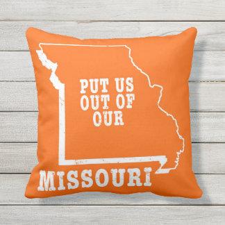 Psto nos fora de nosso Missouri Travesseiro