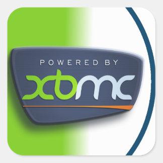 Psto pela etiqueta de XBMC Adesivo Quadrado