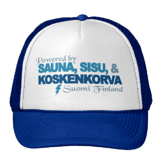Psto pelo chapéu da sauna, do Sisu & do Kossu Boné