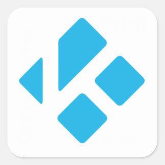 Psto por etiquetas de Kodi Adesivo Quadrado