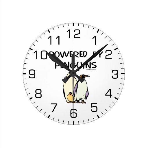 Psto por pinguins relógio de parede