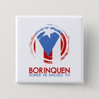 Puerto Rico Borinquen Bóton Quadrado 5.08cm