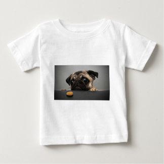 Pug Camiseta Para Bebê