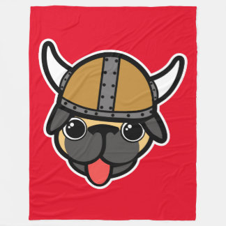 Pug de Viking Cobertor De Velo