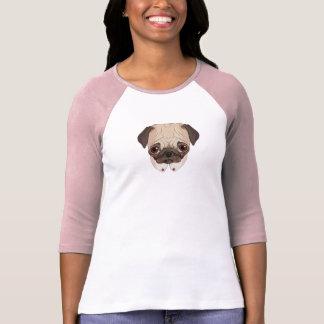 Pug do colar t-shirts