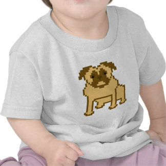 Pug do pixel t-shirts