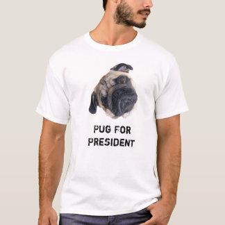 Pug para Camisa do presidente Homem