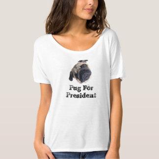 Pug para o presidente - inclinação principal - a camiseta