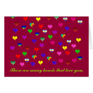 Pulsação do coração e cartão cor-de-rosa do dia da