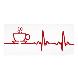 Pulsação do coração EKG do café da manhã 10.16 X 22.86cm Panfleto