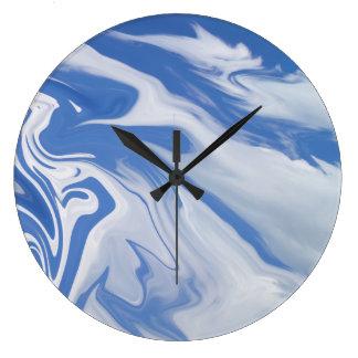 Pulso de disparo da arte abstracta das nuvens relógio grande