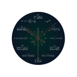Pulso de disparo da matemática relógios para paredes