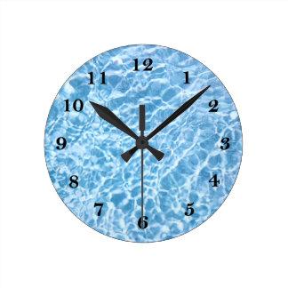 Pulso de disparo de parede da água da piscina relógios de paredes