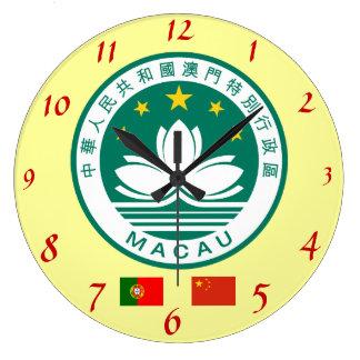 Pulso de disparo de parede da crista de Macau* Relógio Para Parede