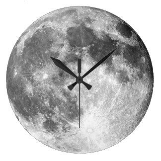 Pulso de disparo de parede da lua relógio grande