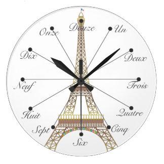 Pulso de disparo de parede da torre Eiffel grande Relógio Grande