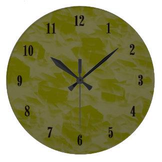 Pulso de disparo de parede da verde azeitona com relógios de paredes