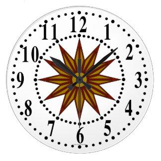 Pulso de disparo de parede de guiamento da estrela relógios de paredes