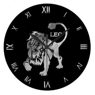 Pulso de disparo de parede de prata do símbolo do  relógio grande