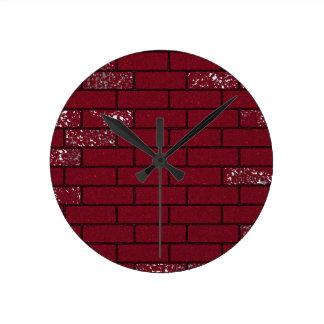 Pulso de disparo desvanecido dos tijolos relógios de paredes
