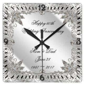 Pulso de disparo do aniversário de casamento do relógio quadrado