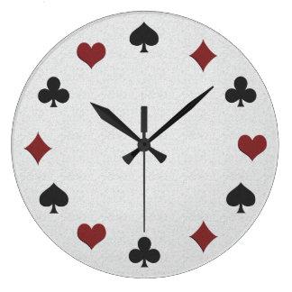 Pulso de disparo do póquer relógio de parede