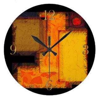 Pulso de disparo urbano da arte abstracta dos relógio grande