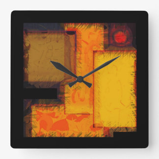 Pulso de disparo urbano da arte abstracta dos relógio quadrado