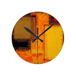 Pulso de disparo urbano da arte abstracta dos relógio redondo
