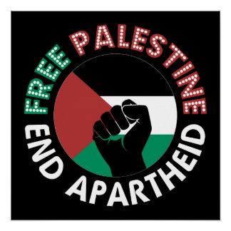 Punho aumentado da extremidade de Palestina Poster Perfeito
