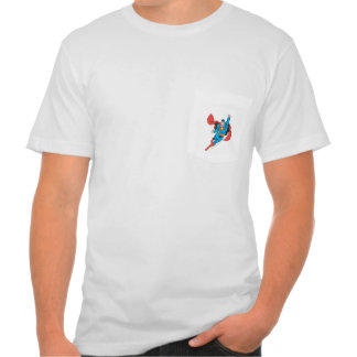 Punho direito do superman aumentado t-shirt