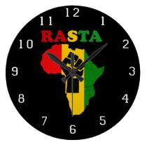 Punho do poder preto de Rasta sobre o pulso de dis Relógios De Paredes