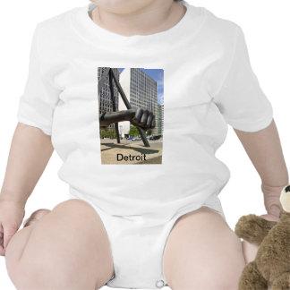 Punho preto Detroit Macacãozinhos Para Bebê
