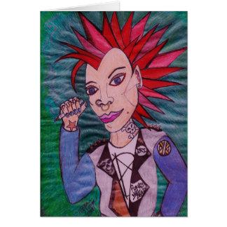 """""""Punk rock """" Cartão Comemorativo"""