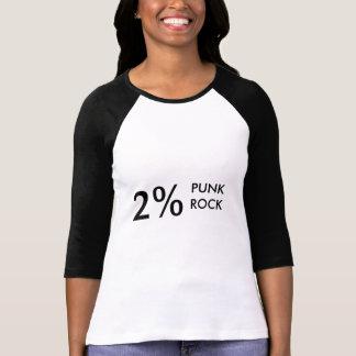 Punk rock de 2% tshirt