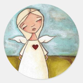 Puro do coração - etiquetas do anjo adesivo
